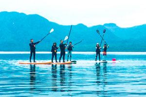 SUP in lake shikotsu