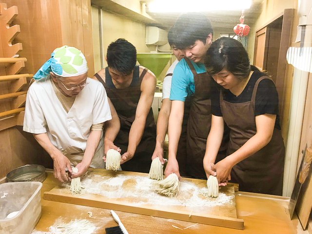 soba cooking