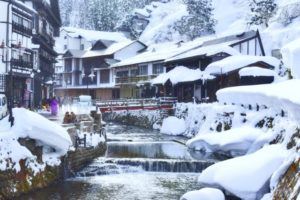 hotspring in winter