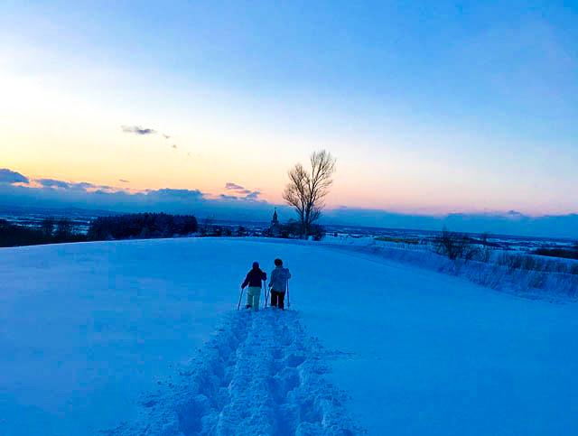 snowshoeing in heidi farm