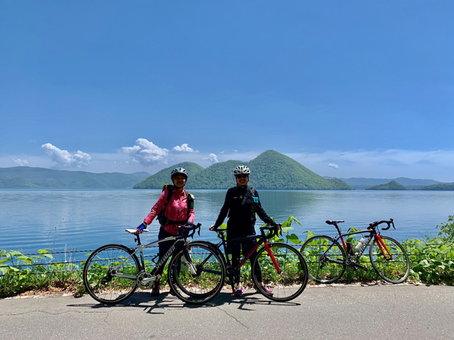 Lake Toya cycling