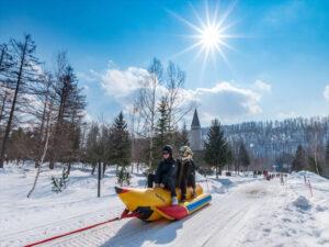 Air-boards and Snowmobiles in Biei