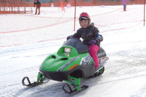Snowmobiles in Chitose