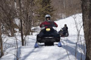 Snowmobiles in Tokachi