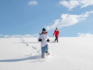 Snowshoeing in Biei