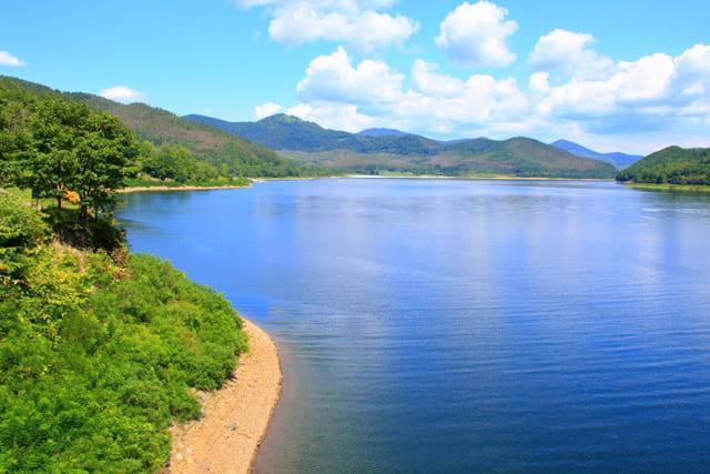 かなやま湖・カヌー