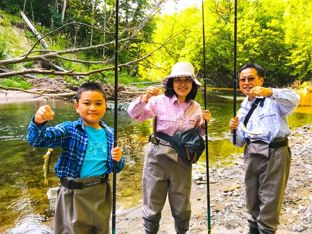 家族で釣り体験