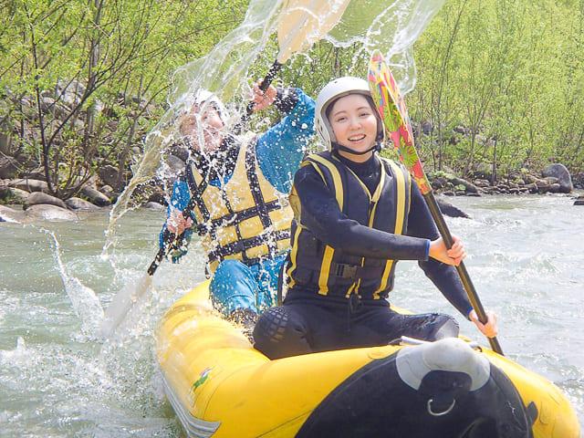 南富良野のダッキー川でアクティビティ体験