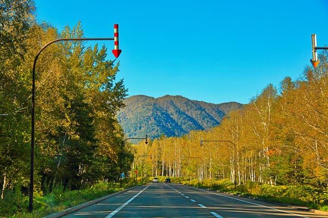 北海道でドライブ