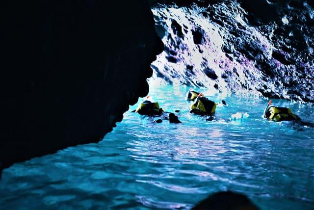 青の洞窟シュノーケル
