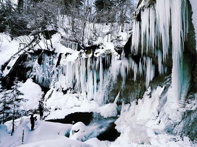 七条大滝スノーシュー