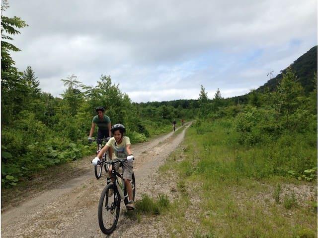 支笏湖サイクリング