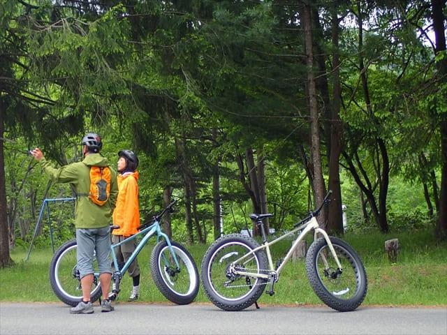 支笏湖ファットバイク