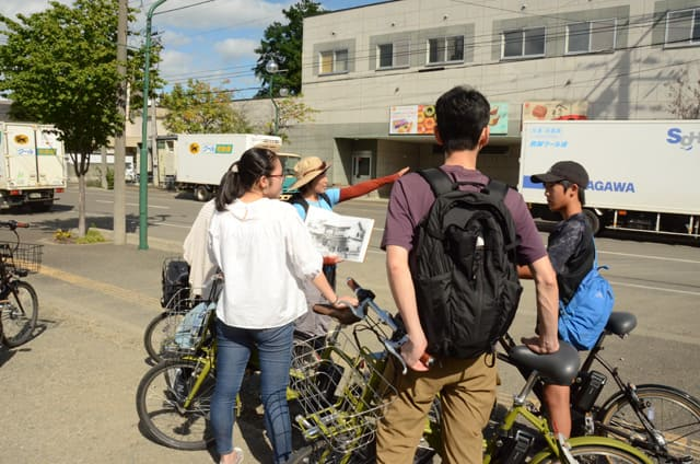 観光スポット巡りサイクリング