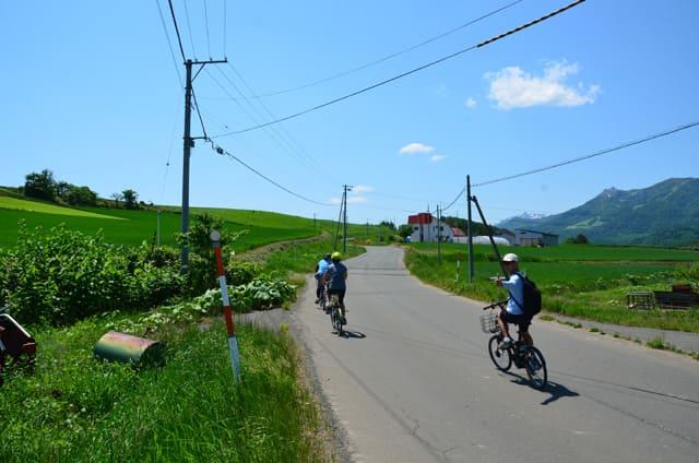 富良野サイクリング_ラベンダーぶどうの丘