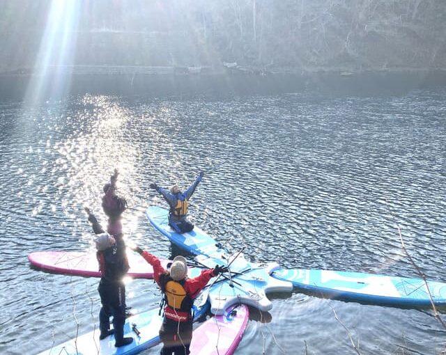 支笏湖SUPヨガ